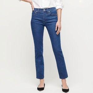 J.Crew Vintage Houndstooth Print Straight Jeans